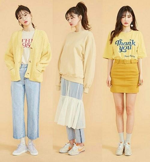 Trang phục học sinh mùa hè theo phong cách Hàn Quốc