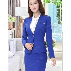 Màu xanh dương đang trở thành xu hướng đồng phục quản lý nhà hàng khách sạn.