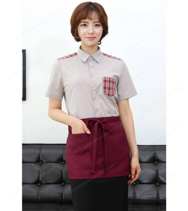 Đồng phục nhân viên áo phông - tạp dề 07