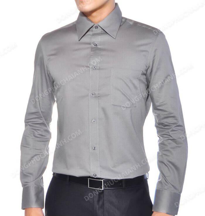 Đồng phục quản lý nhà hàng - khách sạn áo sơ mi nam của Hải Anh đem đến sự trẻ trung, thanh lịch cho người mặc