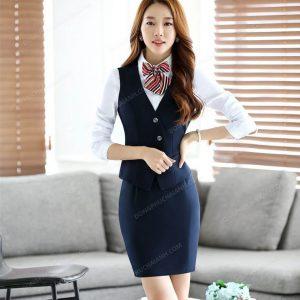 Mẫu đồng phục áo gile nữ công sở hàng hiệu