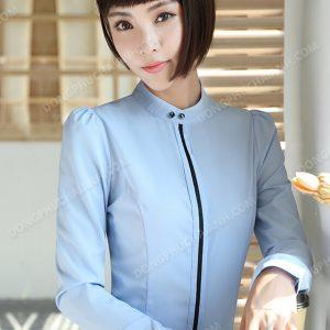 Mẫu đồng phục áo sơ mi nữ công sở điệu đà