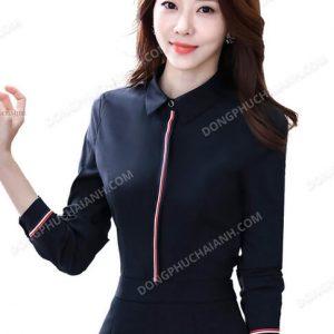 Mẫu đồng phục áo sơ mi nữ công sở phá cách