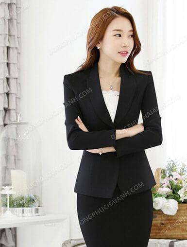 Mẫu đồng phục áo vest nữ công sở kiểu blaze