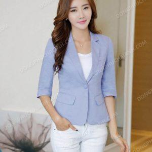 Mẫu đồng phục áo vest nữ công sở cho người gầy