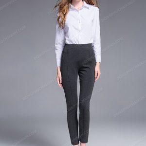 Mẫu đồng phục quần âu nữ công sở cao cấp kết hợp với áo sơ mi 02