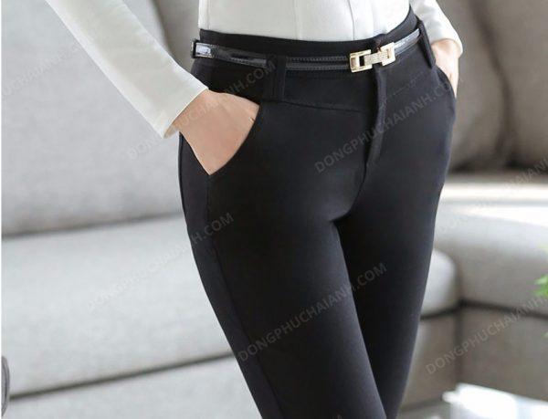 Mẫu đồng phục quần âu nữ công sở màu đen 01