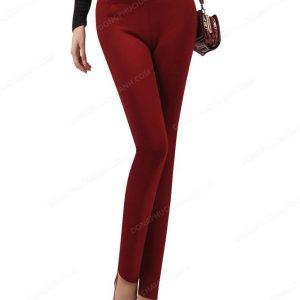 Mẫu đồng phục quần tây nữ công sở màu đỏ