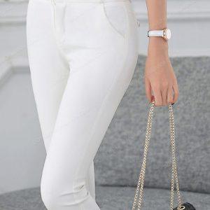 Mẫu đồng phục quần âu nữ công sở màu trắng