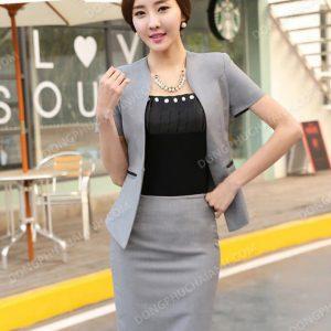 Mẫu đồng phục vest nữ công sở hàng hiệu
