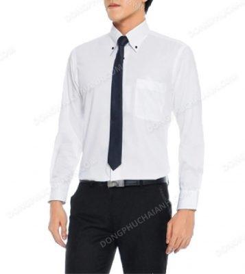 Mẫu áo sơ mi nam công sở màu trắng