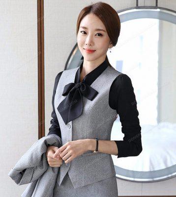 Mẫu áo gile nữ công sở hiện đại