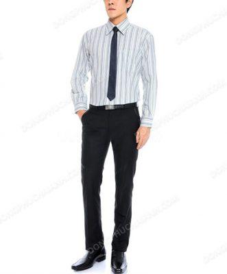 Mẫu áo sơ mi đồng phục công sở nam kẻ sọc