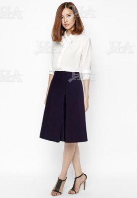 Mẫu áo sơ mi nữ đồng phục công sở kèm nơ
