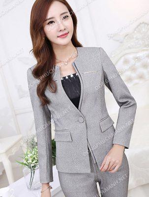 Mẫu áo vest công sở nữ phù hợp người da ngăm