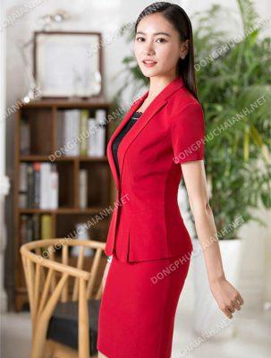 Mẫu áo vest nữ đồng phục công sở tuyệt đẹp
