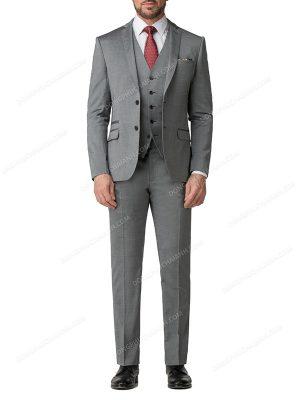 mẫu gile công sở nam kết hợp với vest cùng màu