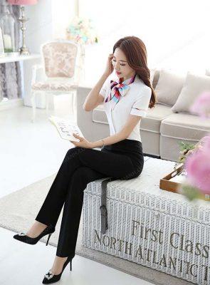 Mẫu quần tây công sở kiểu Hàn Quốc
