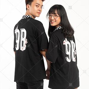 Mẫu áo lớp caro màu đen 9B